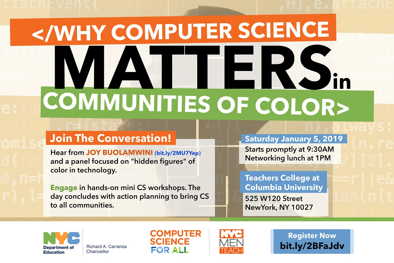 Logo for Why CS Matters in Communities of Color event