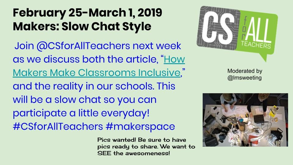 Makers Slow Twitter chat