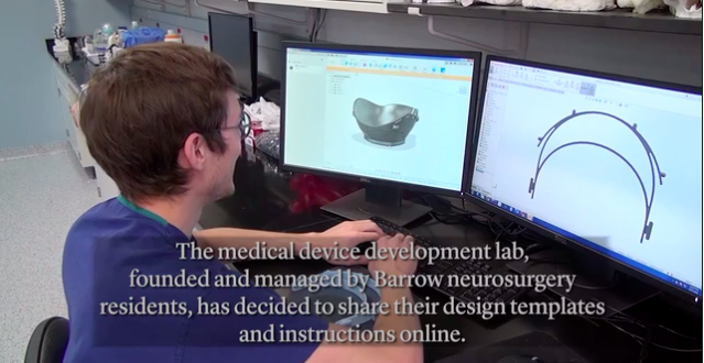 Barro Neuro doctoral residents make 3D printed P100 masks